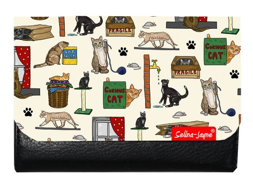 Selina-Jayne Curious Cats Limited Edition Designer Small Purse